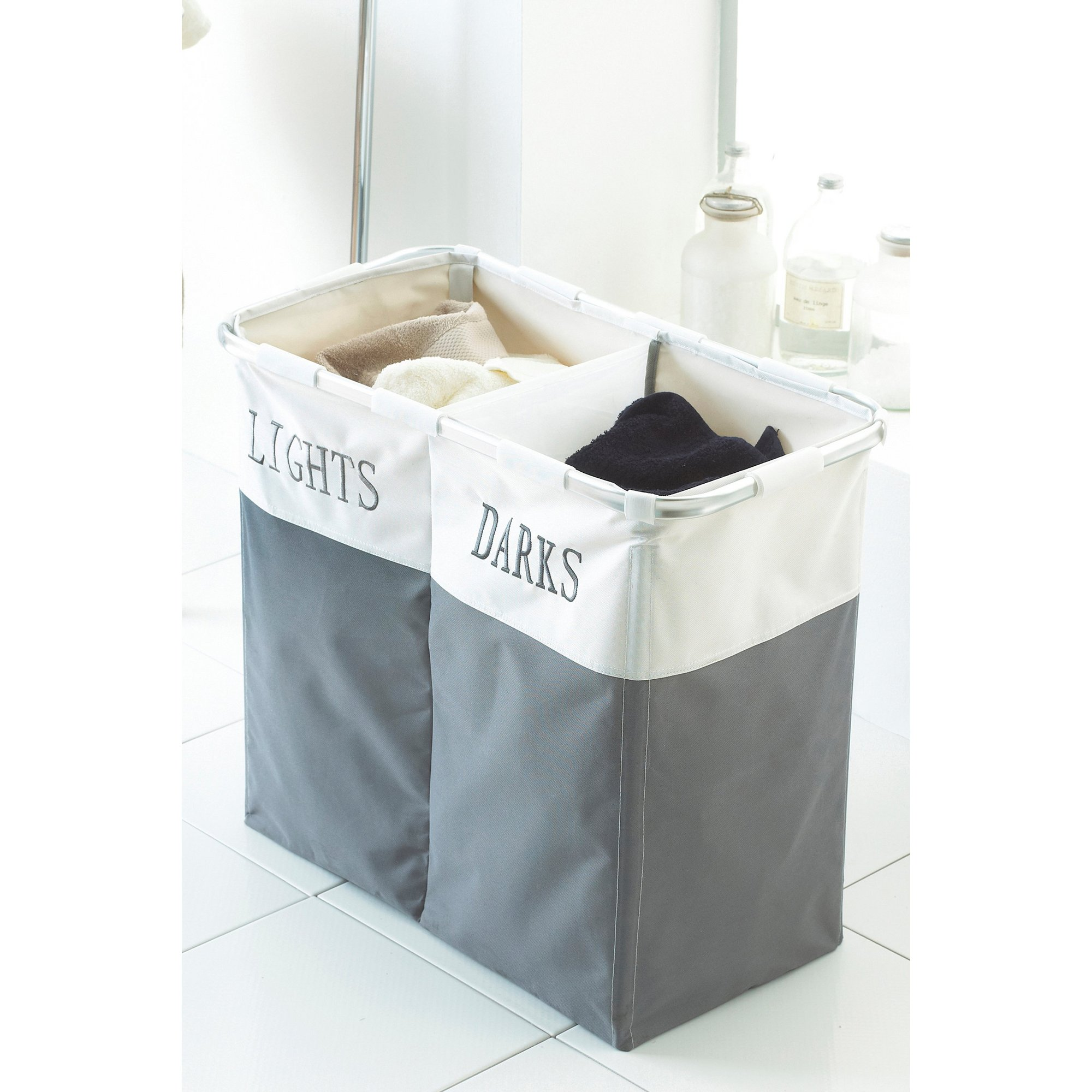 Image of Laundry Hamper Light and Dark