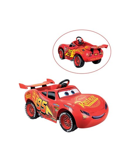 Image For Disney Cars Lightning McQueen 3 6V Electric Ride On Car From Studio