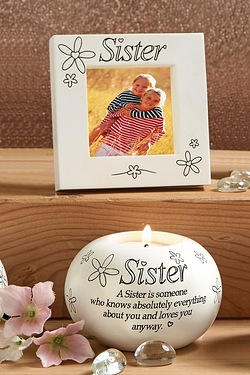 Frame and Candle Set - Sister