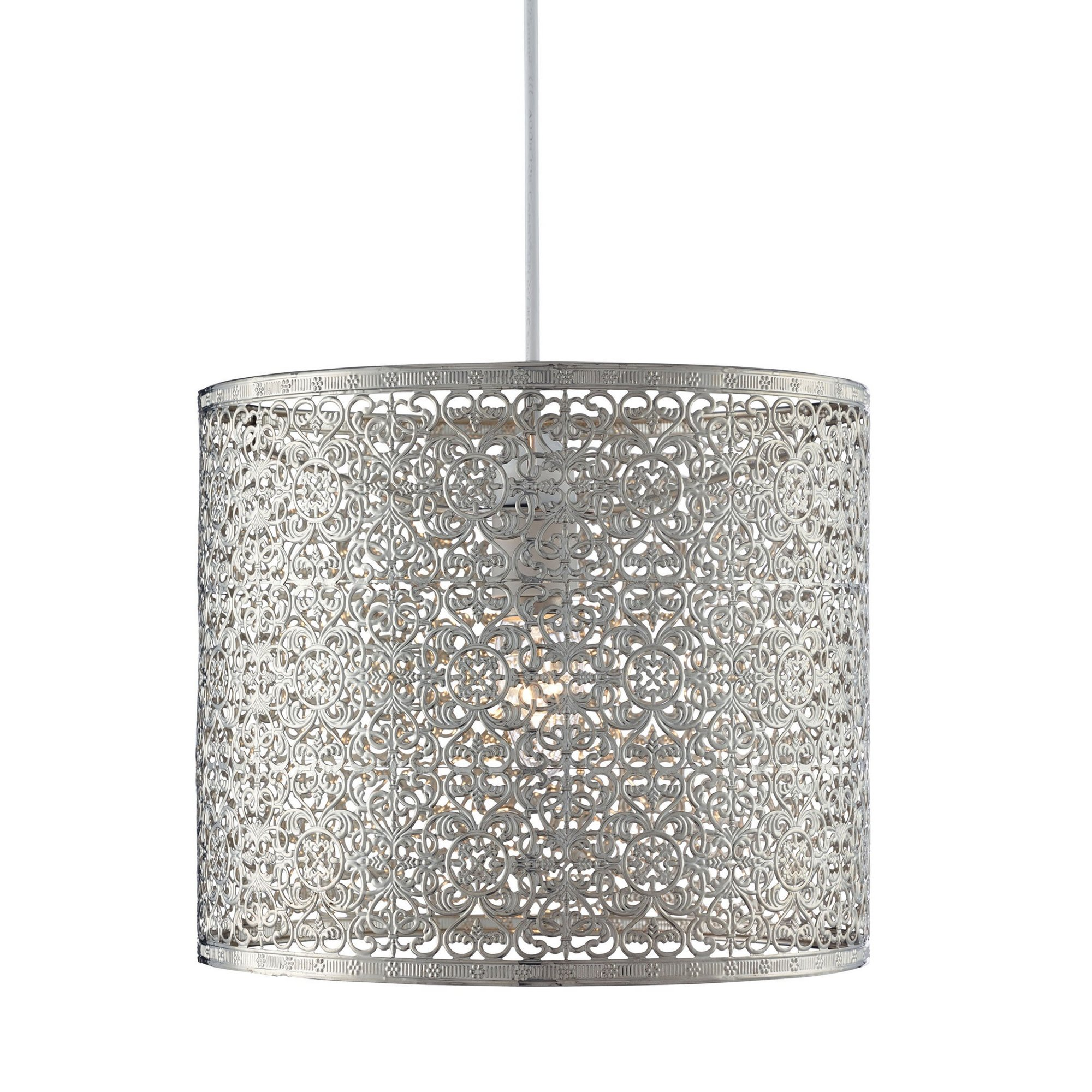 Image of Chrome Pendant Easy Fit Light Shade