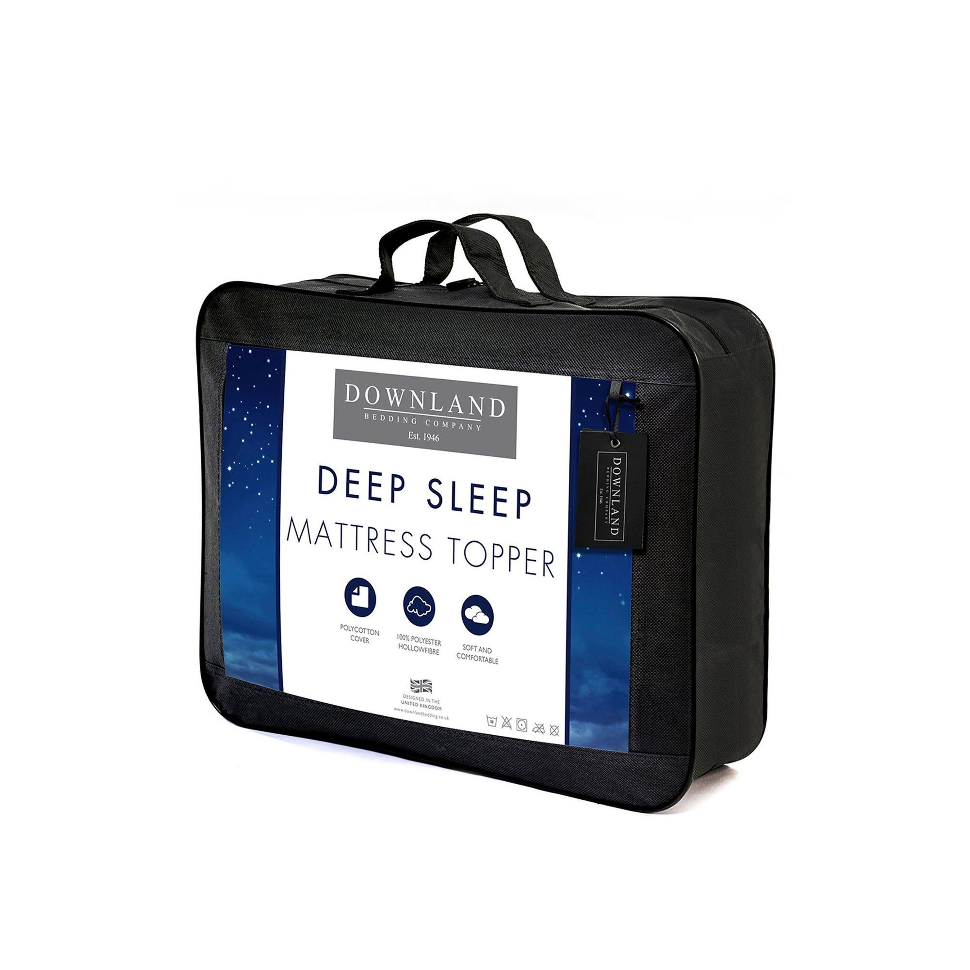 Image of Downland Deep Sleep Hollowfibre Mattress Topper