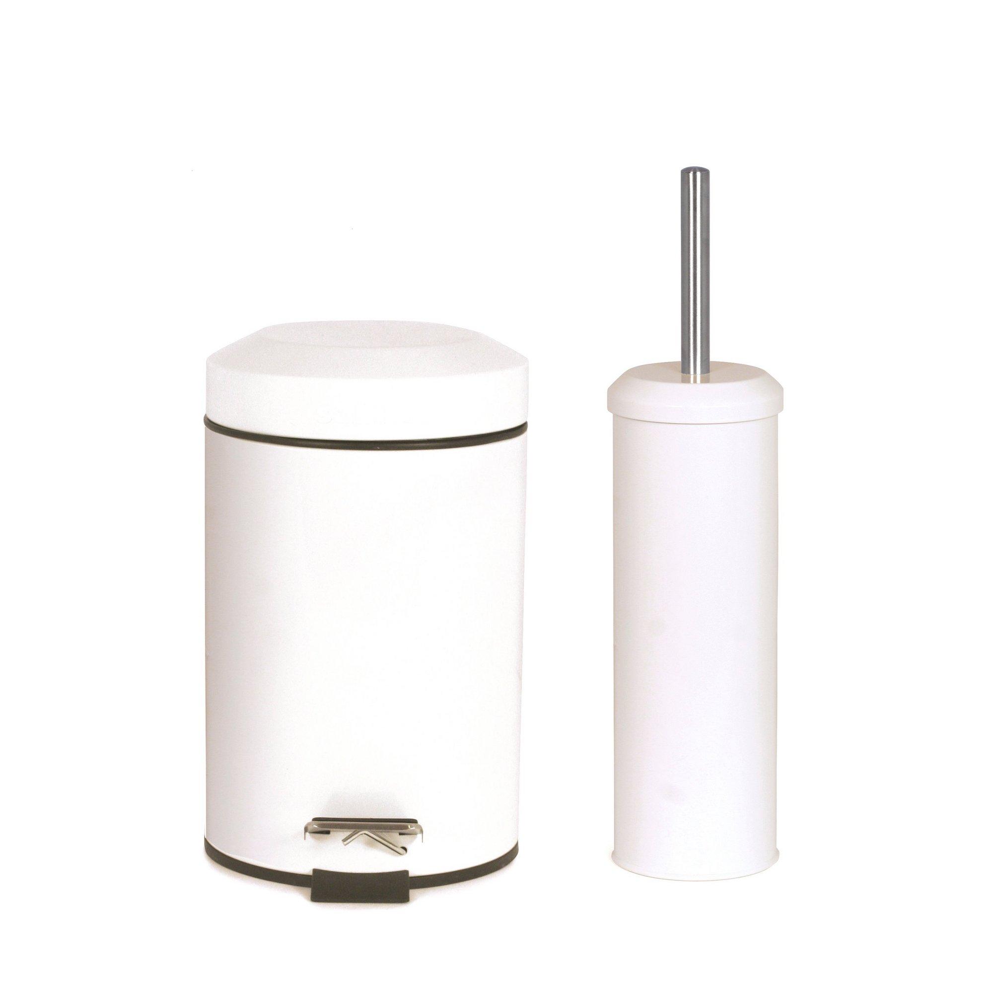 Image of Toilet Brush and Bin Set