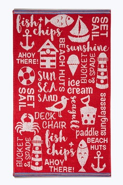Summer Holiday Red Towels