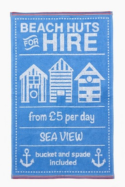 Beach Huts Hire Blue Towels