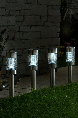 Pack Of 4 Extra Large Glass Solar Lights