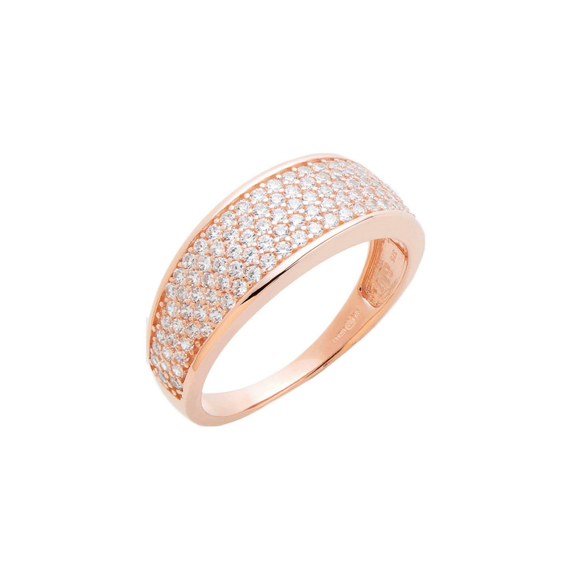 Image of 9ct Gold CZ Pave Set Tapered Ring