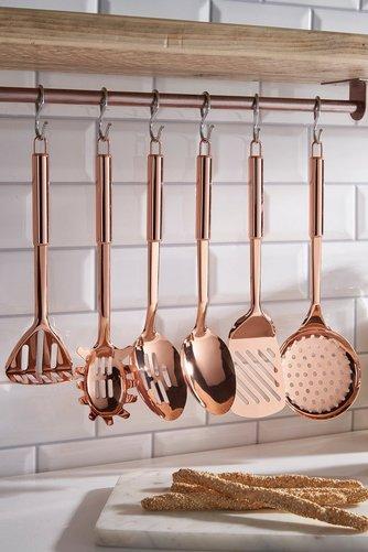 6 Piece Copper Plated Kitchen Tool Set Studio