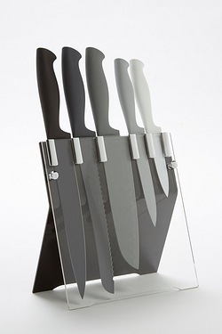 5-Piece Monochrome Knife Block Set