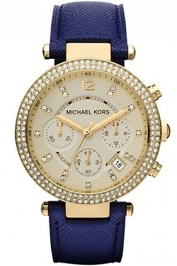 Michael Kors Blue Strap Watch