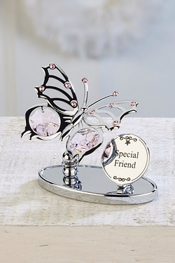 Crystocraft Butterfly Plaque - Friend