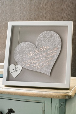 Mr and Mrs Heart Plaque