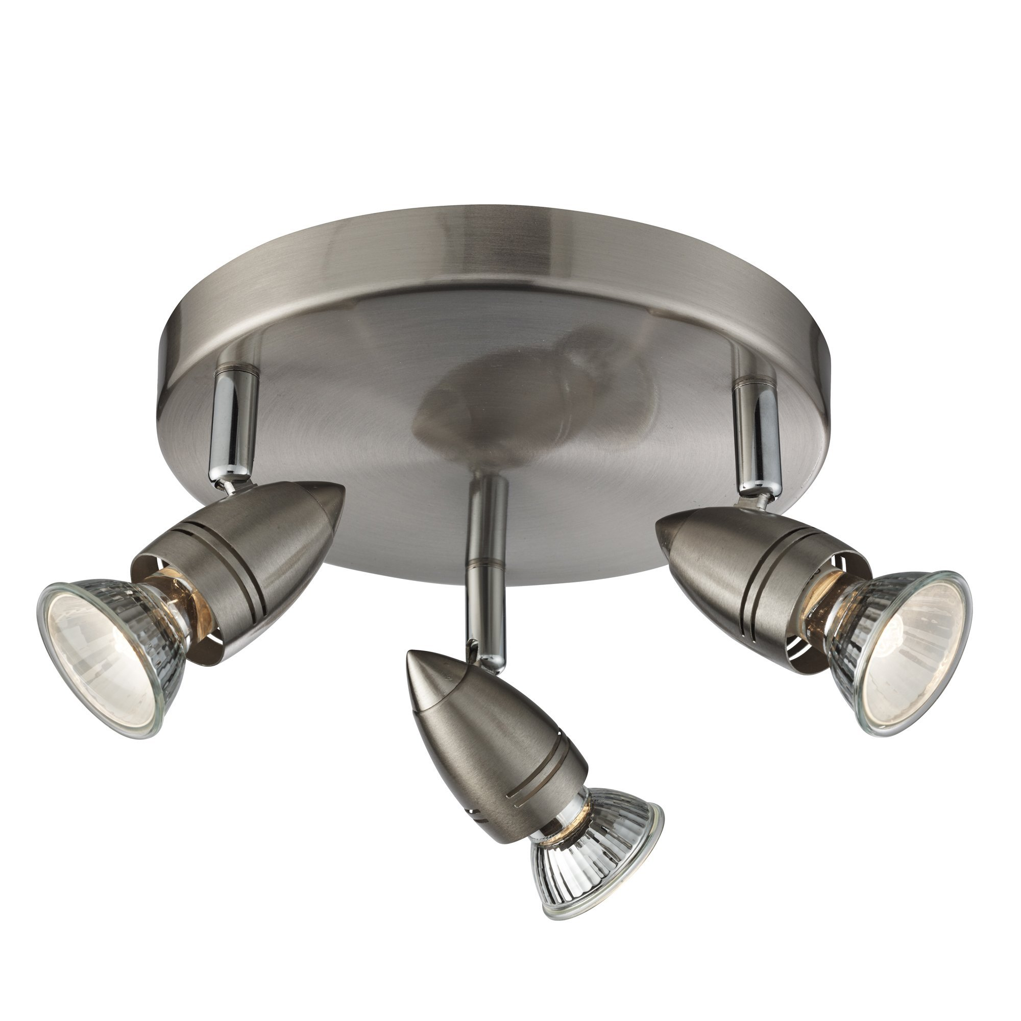 Image of 3 Light Spotlight Plate Satin Silver