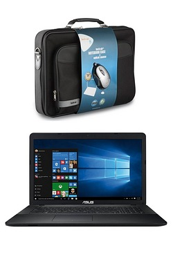"Asus X7 17"" Laptop PC and Case"