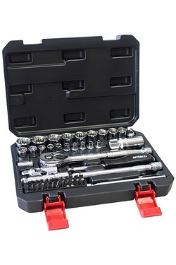 "52 Piece 1/4"" and 3/8"" 12 Point Socket Set"