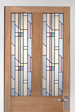 Self-Adhesive Window and Door Vinyl Rolls - Classic Stained Glass