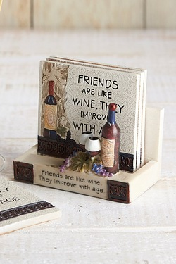 Friends Are Like Wine Coasters