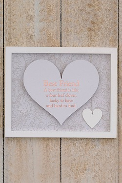 Said With Sentiment Heart Frame - Best Friend