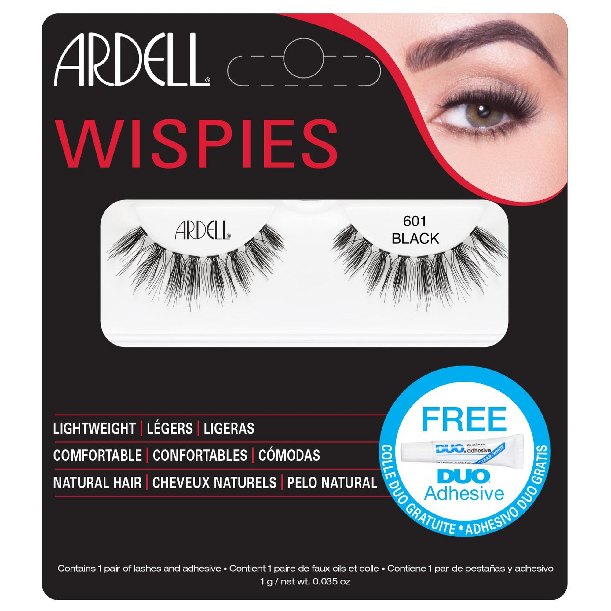Image of Ardell Wispies Cluster Lashes 601 Pack of 2