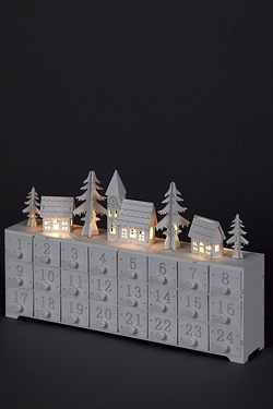 LED Wooden Advent Calendar