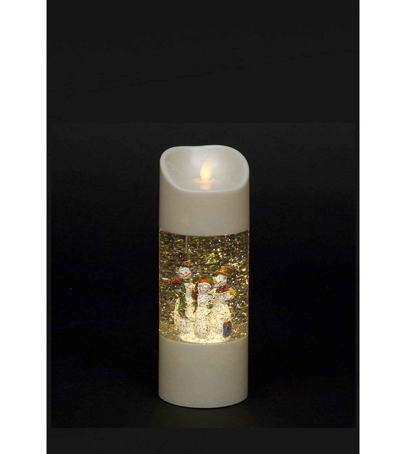 Image For Led Christmas Scene Water Candle From Studio