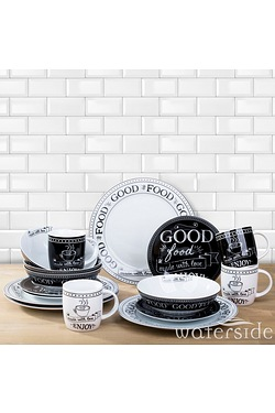 16-Piece Good Food Made With Love Dinner Set