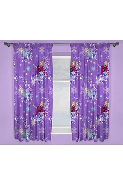 "Disney Frozen Transparent 54"" Drop Curtains"