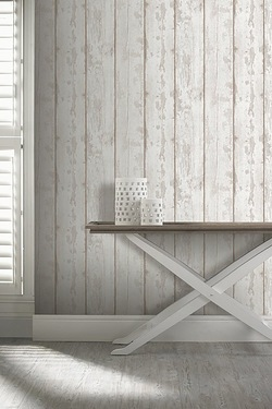 Washed Wood Wallpaper