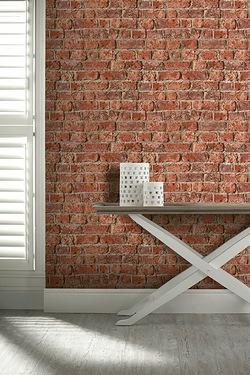 Urban Red Brick Wallpaper