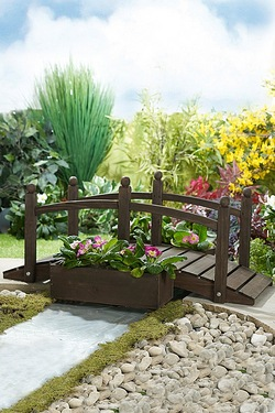Wooden Decorative Planter Bridge