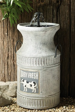 Solar Milk Churn Water Fountain