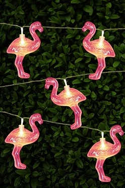 Solar Flamingo String Lights