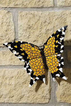 Mosaic Monarch Butterfly Wall Plaque