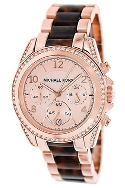 Michael Kors Blair Tortoise Shell Chronograph Watch