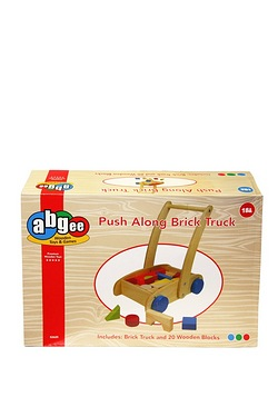 Wooden Push Along Push Brick Truck