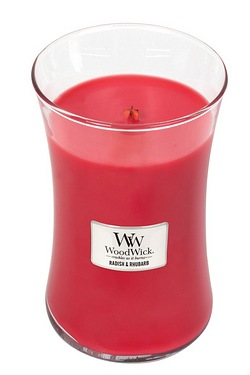 Woodwick Radish and Rhubarb Large Jar Candle