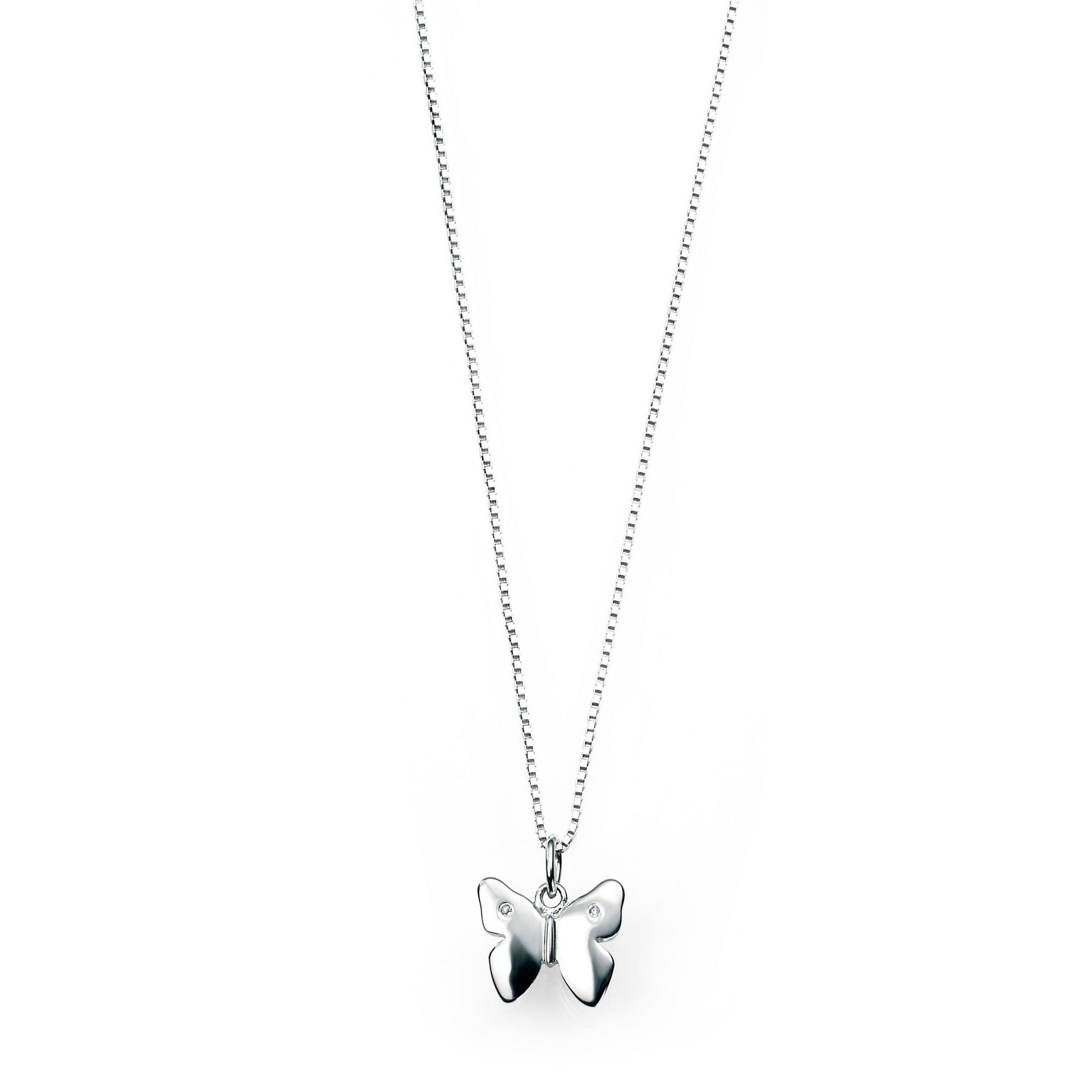 Image of D For Diamond Butterfly Pendant