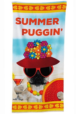 Mrs Summer Puggin Beach Towel