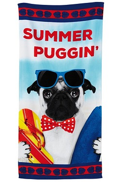 Mr Summer Puggin Beach Towel