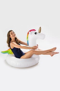 Novelty Inflatable Swim Ring - Unicorn