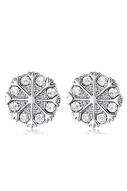 Crystallized Swarovski Elements Snow Crystal Earrings