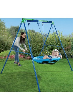 Something girls on the adult swings