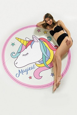 Novelty Beach Towel - Unicorn