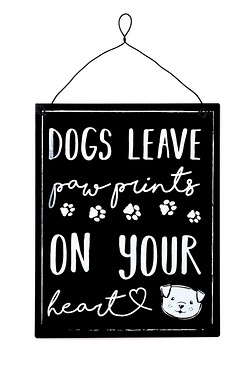Dogs Leave Paw Prints Sign