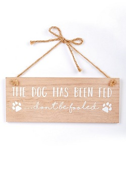 Dog Fed Sign