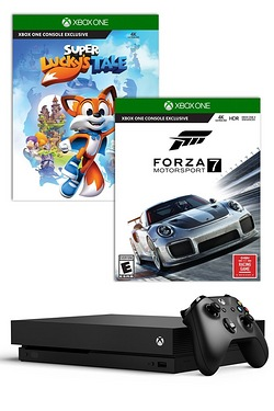 Xbox One X 1TB Console + Forza Motorsport 7 + Super Luckys Tale