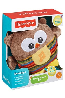 Fisher Price Soothe and Glow Brown Owl