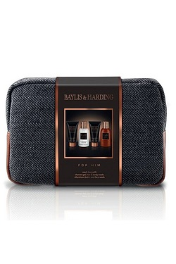 Baylis and Harding Black Pepper and Ginseng Mens Washbag Set