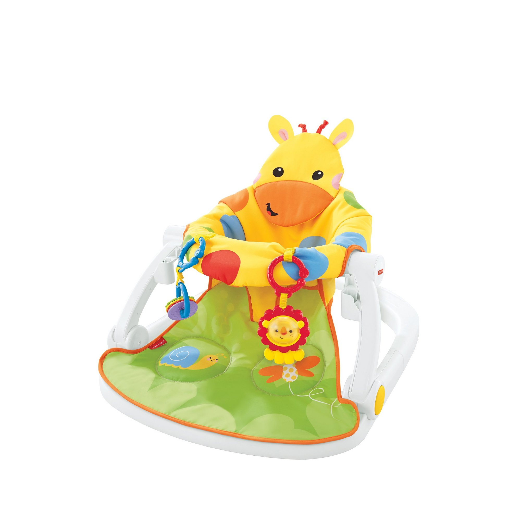 Image of Fisher Price Sit Me Up Giraffe Floor Seat + Tray
