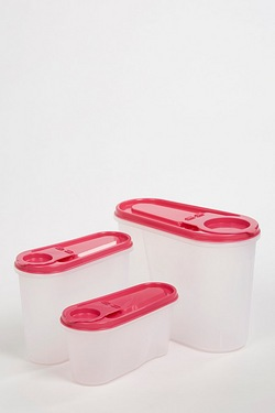 Set Of 3 Store N Pour Food Containers