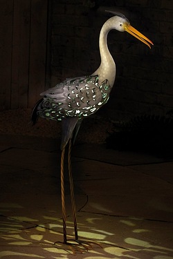 Solar Light Silhouette - Heron